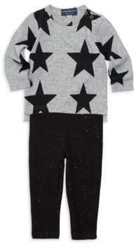 Andy & Evan Baby Girl's Two-Piece Star Sweatshirt & Pants Set