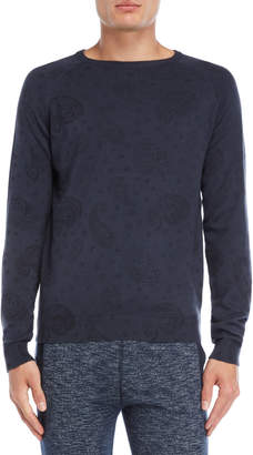 Fresh Brand Paisley Crew Neck Sweater