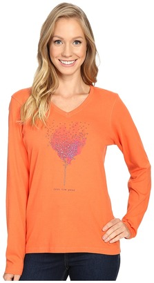 Life is good Grow The Good Tree Long Sleeve Crusher Vee $30 thestylecure.com