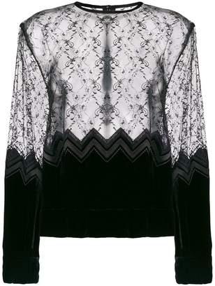 Comme des Garcons sheer lace blouse