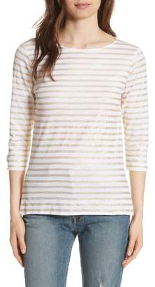 Majestic Linen Stretch Stripe Top