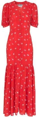 Rotate rose print maxi dress
