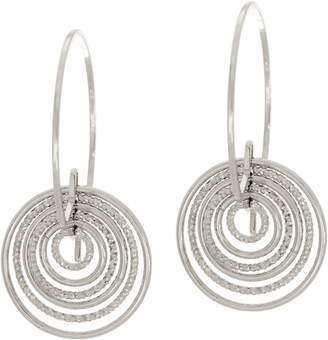 Italian Silver Cascading Hoop Earrings Sterling