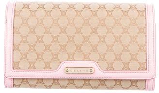 CelineCéline Leather-Trimmed Monogram Wallet