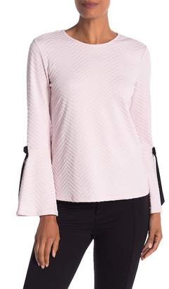 Cynthia Steffe CeCe by Textured Bell Sleeve Top
