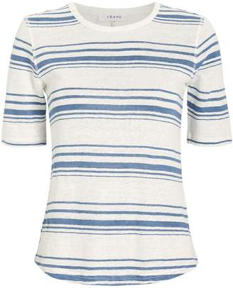 Frame 70's Striped Linen T-Shirt