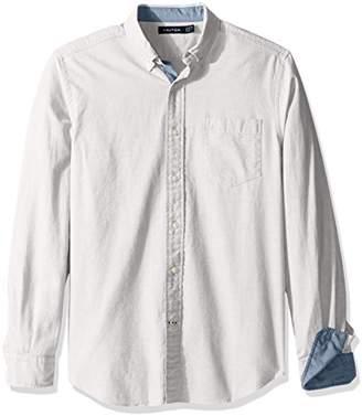 Nautica Men's Long Sleeve Button Down Solid Oxford Shirt