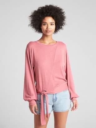 Gap Softspun Pullover Sweater with Tie-Hem