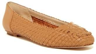 Delman Frani Basket Weave Flat $298 thestylecure.com