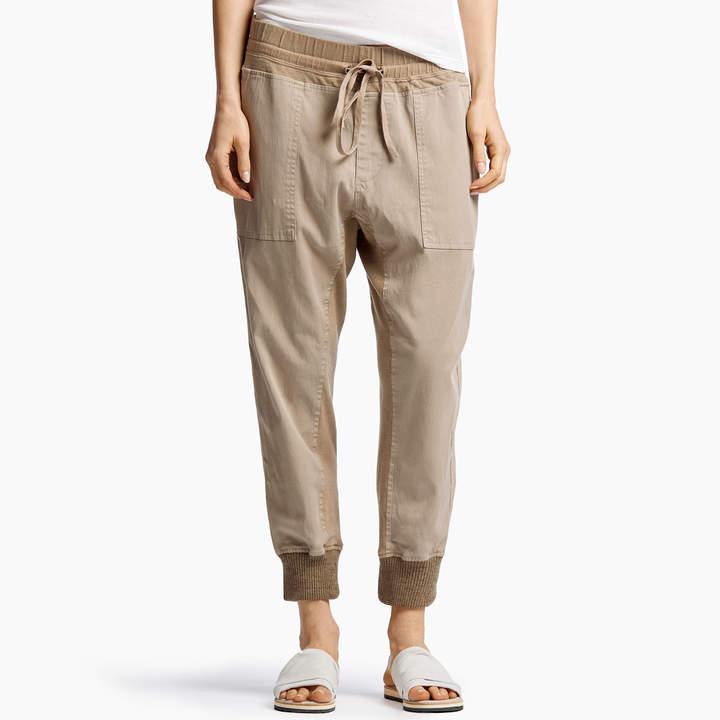 Mixed Media Jersey Pant