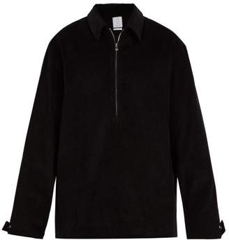Deveaux - Point Collar Corduroy Pullover - Mens - Black