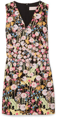 Peter Pilotto Floral-print Cady Mini Dress - Black