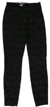 Dolce & Gabbana Lace Mid-Rise Skinny Pants