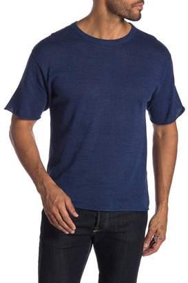 Saturdays NYC Pacho Linen Short Sleeves Sweater