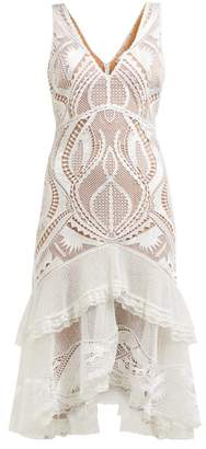 Jonathan Simkhai Guipure Applique V Neck Dress - Womens - White
