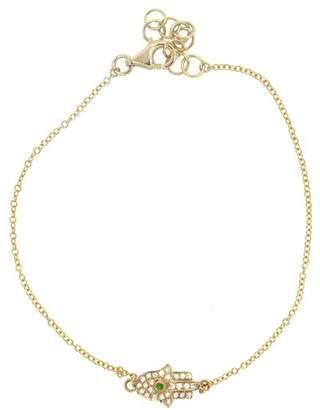 Ron Hami 14K Yellow Gold Diamond Hamsa Chain Bracelet - 0.08 ctw
