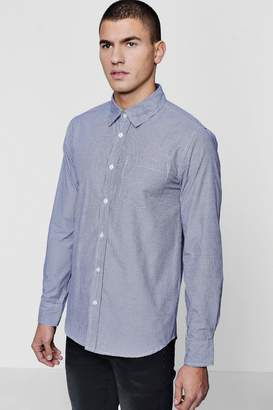 boohoo Long Sleeve Check Smart Shirt