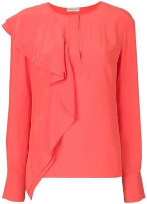 Emilio Pucci draped ruffle blouse