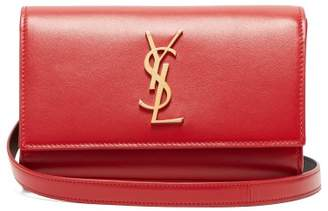 Saint Laurent Kate Leather Belt Bag - Womens - Red