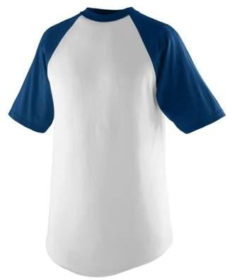 Augusta Sportswear Augusta SHORT SLEEVE BASEBALL JERSEY WHI/NAVY L