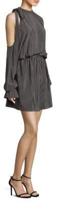 Robert Rodriguez Star-Print Silk Dress