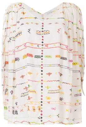 Mes Demoiselles Salah Embroidered Poncho Top