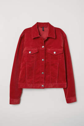 H&M Cotton Corduroy Jacket - Red