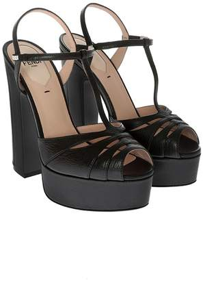 Fendi High Heel Classic Platform Sandals