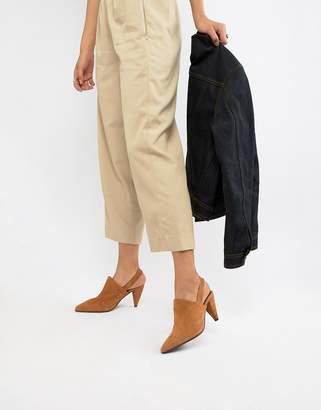 Selected Pointed Suede Slingback Heels