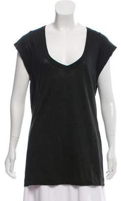 Etoile Isabel Marant Short Sleeve Scoop Neck T-Shirt