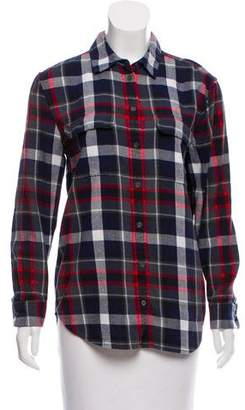 Equipment Plaid Flannel Top