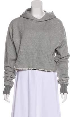 Amiri Hooded Cropped Sweater