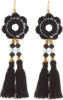 Panacea Mirror Embroidery Tassel Earrings