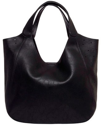 Urban Originals 'Masterpiece' Perforated Faux Leather Tote - Black $78 thestylecure.com