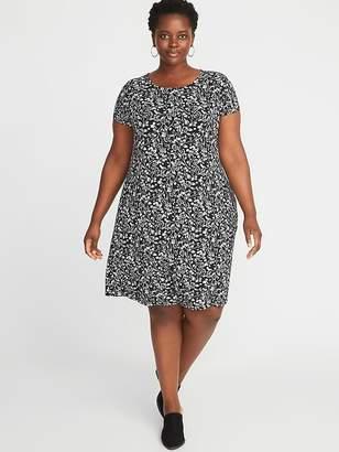 Old Navy Short-Sleeve Plus-Size Jersey-Knit Swing Dress