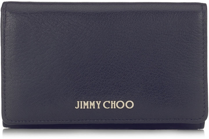 Jimmy Choo MARLIE Navy Soft Grained Goat Leather Continental Wallet