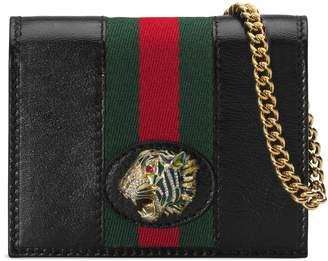 Gucci Rajah chain card case wallet