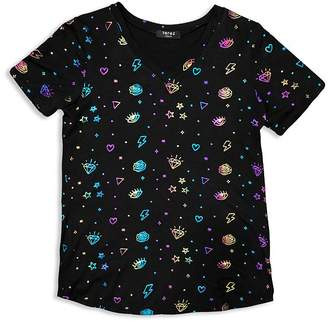 Terez Girls' Foil Print Tee - Little Kid