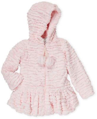 American Widgeon (Girls 4-6x) Pink Faux Fur Coat