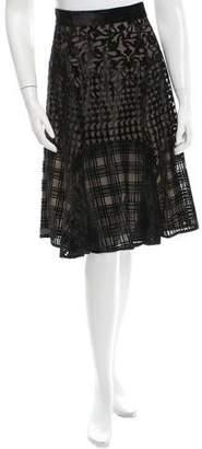 Mary Katrantzou Avon Velvet Patterned Skirt w/ Tags
