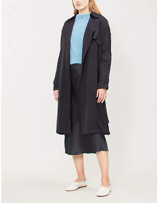 Theory Oaklane silk coat