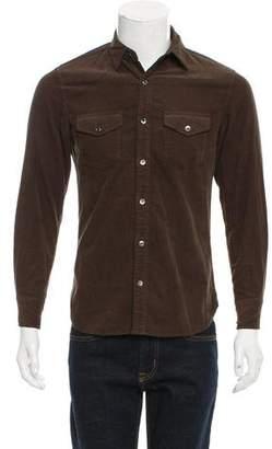 Frame Corduroy Button-Up Shirt