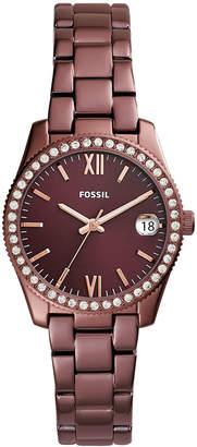 Fossil Women's Scarlette Red Stainless Steel Bracelet Watch 32mm
