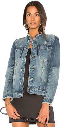 BLANKNYC Collarless Denim Jacket $98 thestylecure.com