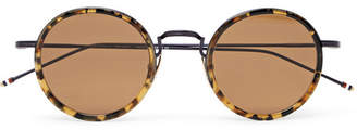 Thom Browne Round-Frame Tortoiseshell Acetate And Metal Sunglasses