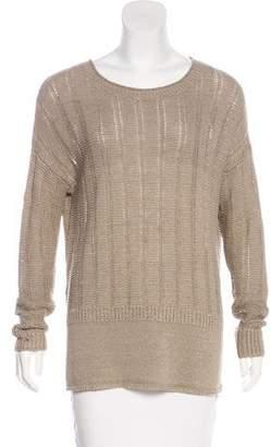 Vince Long Sleeve Open-Knit Sweater
