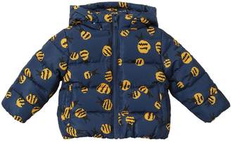 Stella McCartney Bee Printed Hooded Nylon Puffer Jacket