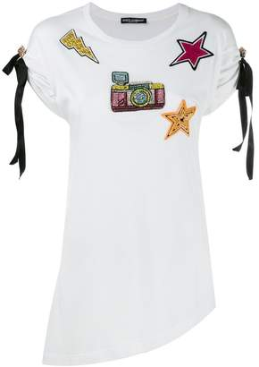 Dolce & Gabbana patch embroidered T-shirt