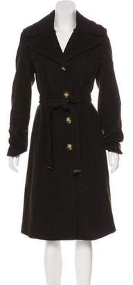 MICHAEL Michael Kors Long Wool-Blend Coat