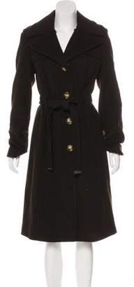 MICHAEL Michael Kors Long Wool-Blend Coat